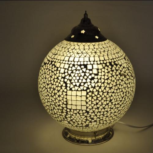 Tafellamp Cantara transparant 25cm