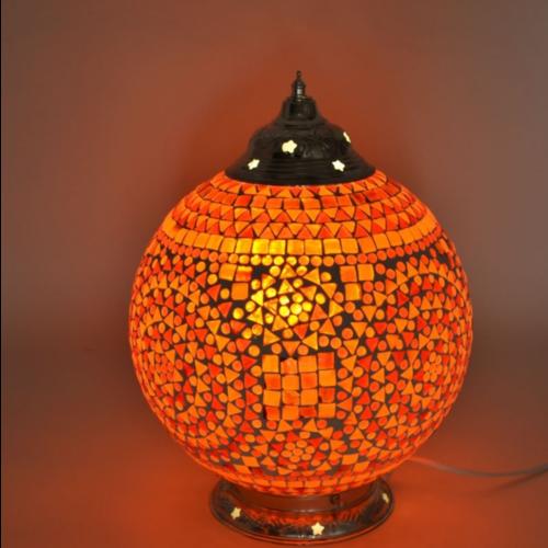 Tafellamp Cantara rood-oranje 25cm