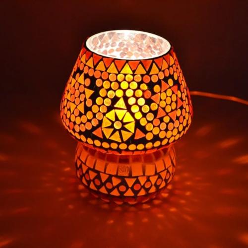 Tafellamp Mazel rood-oranje