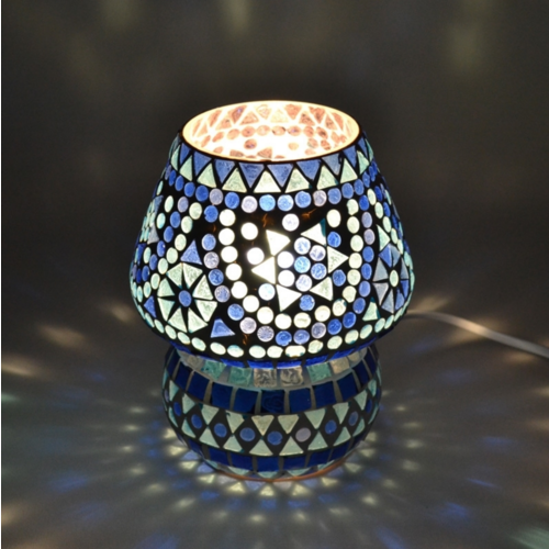 Tafellamp Mazel blauw