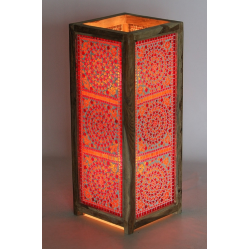 Vloerlamp Adra rood-oranje in 2 maten