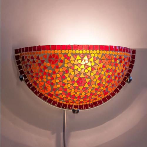 Wandlamp Cantara rood-oranje