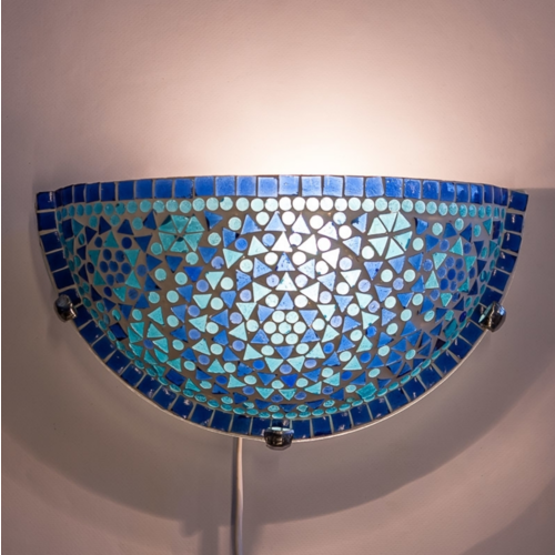 Wandlamp Cantara blauw