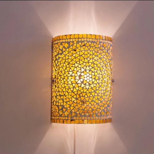 Wandlamp Nema bruin-beige
