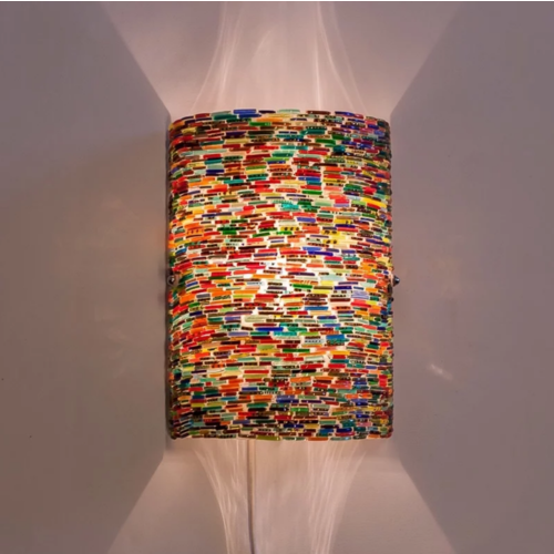 Wandlamp Asu multi-colour