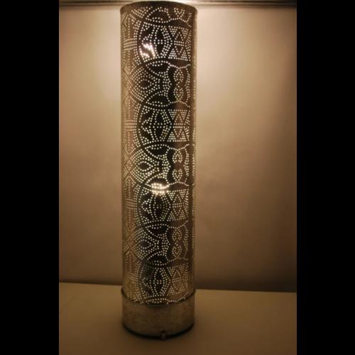Vloerlamp Ameera vintage zilver in 3 maten