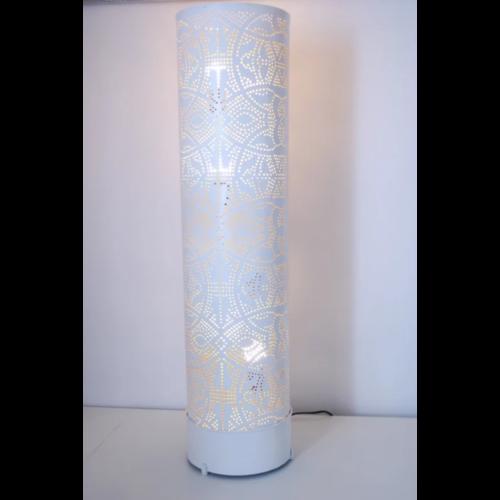 Vloerlamp Ameera wit/goud in 3 maten