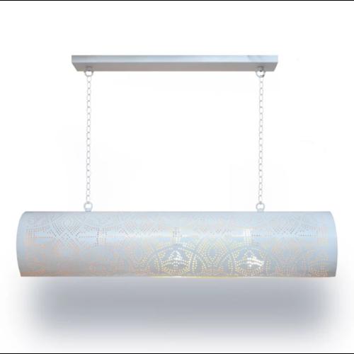 Hanglamp Ameera wit-goud horizontaal