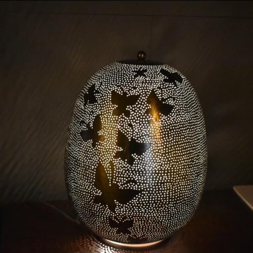 Tafellamp Ameera butterfly zilver