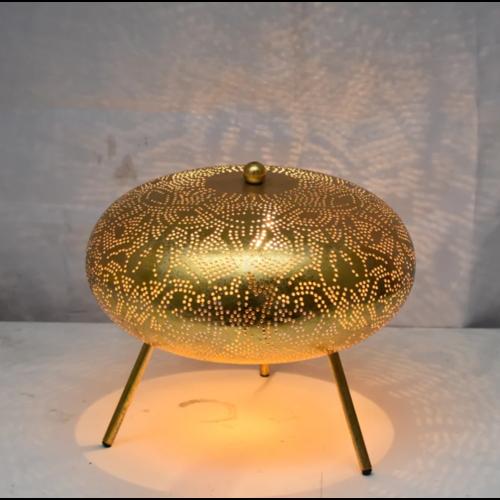 Tafellamp Ameera filigrain ufo vintage goud