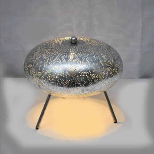 Tafellamp Ameera filigrain ufo vintage zilver