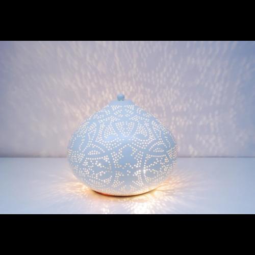 Tafellamp Ameera filigrain onion wit/goud in 2 maten
