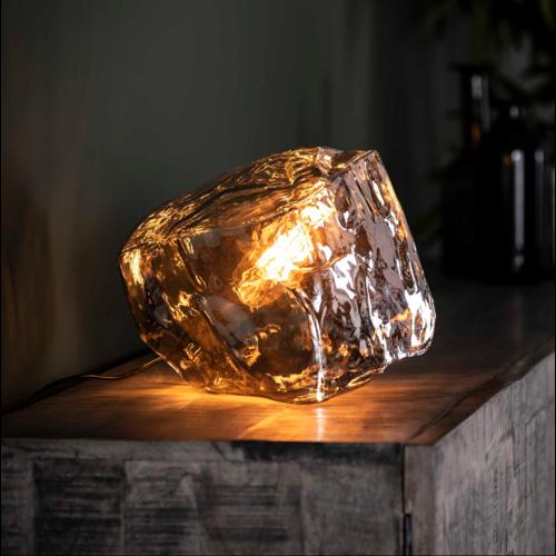 Tafellamp Rogan Chromed + led lamp cadeau