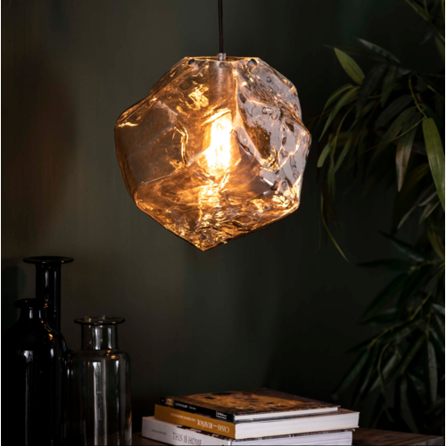 Hanglamp Rogan Chromed + led lamp cadeau