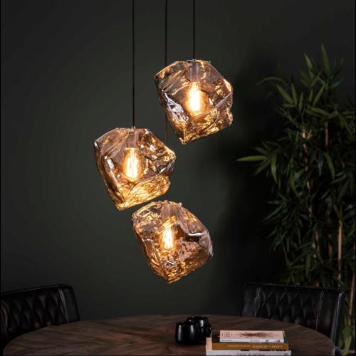 Hanglamp Rogan Chromed getrapt + 3 led lampen cadeau