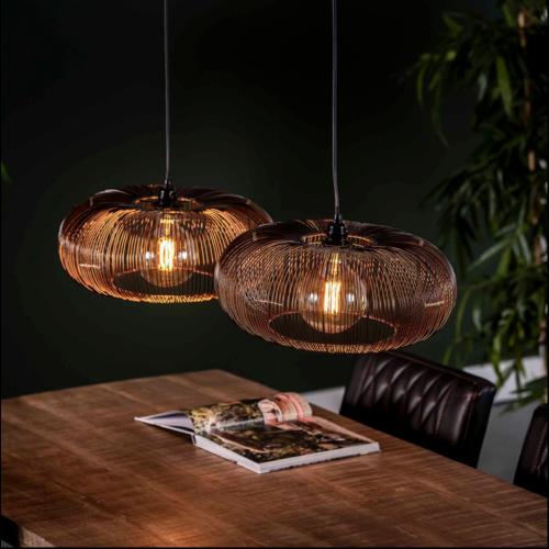 Hanglamp Valencia 2 lichts + led lampen cadeau