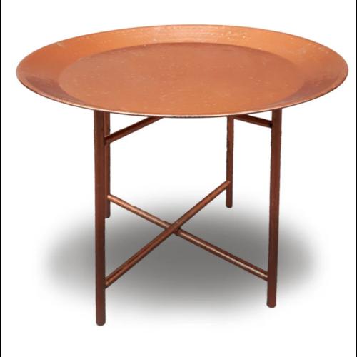 Schaal tafel koperkleurig