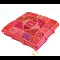 Oosters vloerkussen Patchwork roze