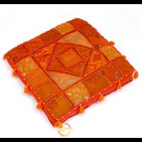 Oosters vloerkussen Patchwork oranje