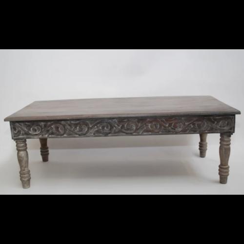 Oosterse salontafel traditioneel houtsnijwerk antiek wash