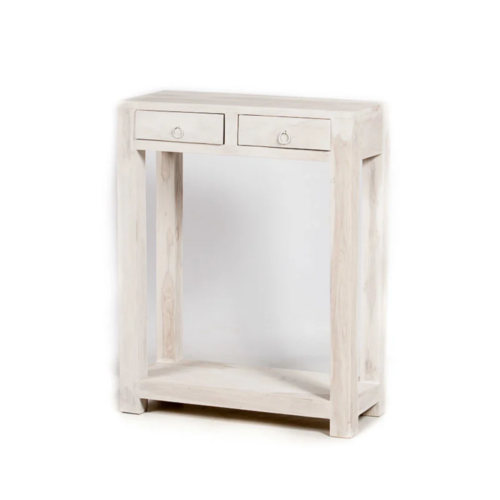 Oosterse side table Jira white washed met lades