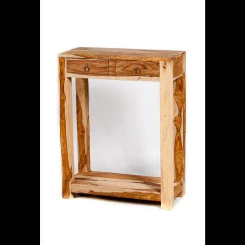 Oosterse side table Jira naturel met lades