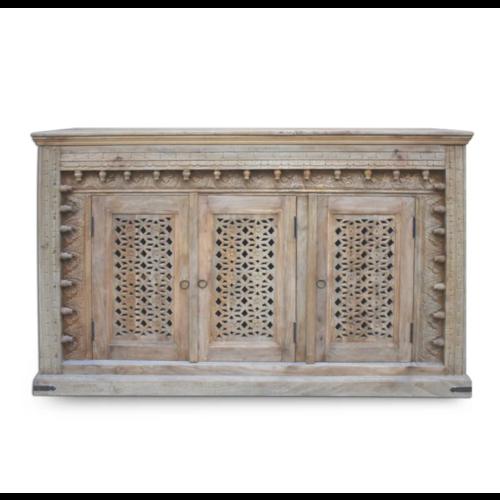 Oosters dressoir Yusra met houtsnijwerk