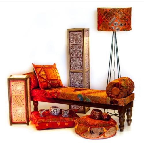 Sofa Alya patchwork oranje