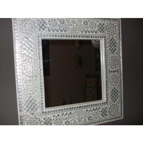 Spiegel Diya met transparant mozaïekframe in 4 maten