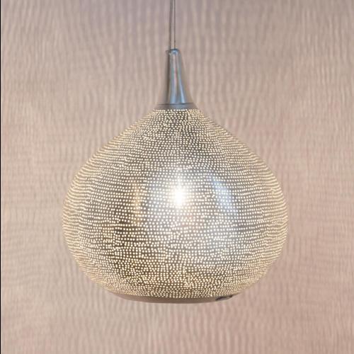 Hanglamp Nubia Zilver in 3 maten