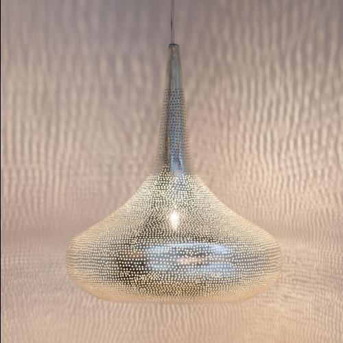 Hanglamp Ammon Zilver in 2 maten