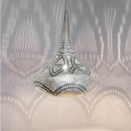 Hanglamp Ammon Lace Zilver in 2 maten