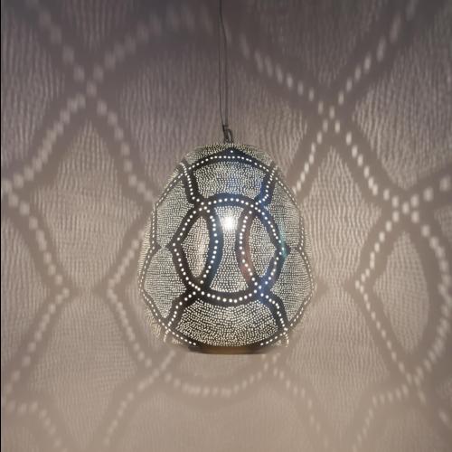 Hanglamp Monifa Lace Zilver in 3 maten