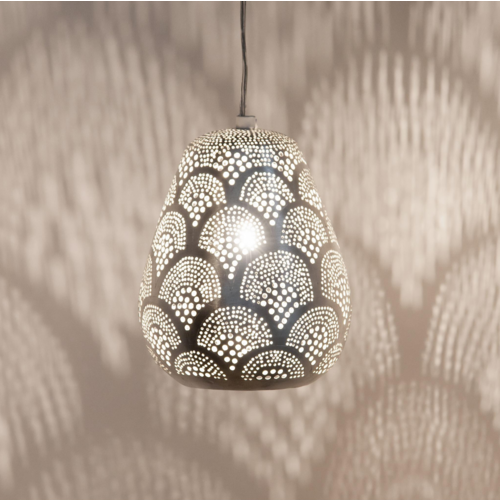 Hanglamp Monifa Waaier Zilver Mini