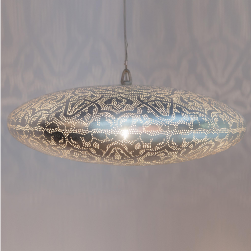 Hanglamp Delphi Lace Zilver in 2 maten