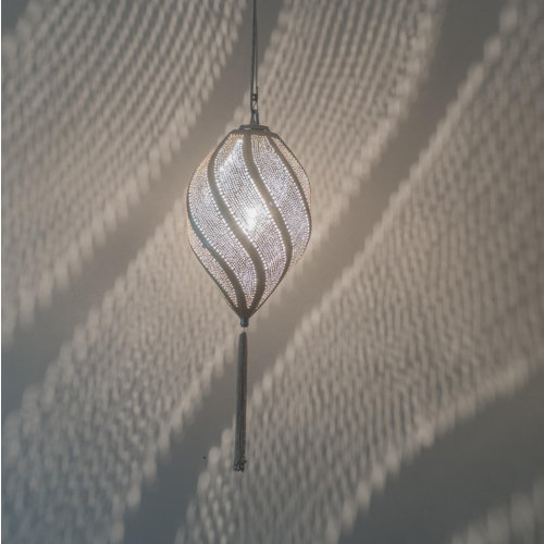 Hanglamp Yanara Lace Zilver in 3 maten