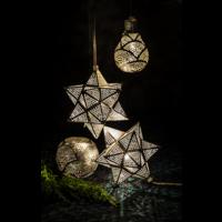 Hanglamp Reret Zilver Waaier in 2 maten