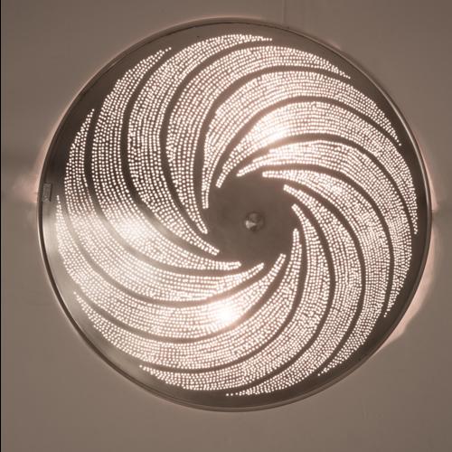 Plafondlamp Bennu Wervel Zilver in 2 maten