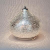 Tafellamp Bes Zilver in 3 maten