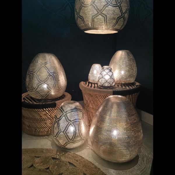 Tafellamp Monifa Waaier Zilver Mini