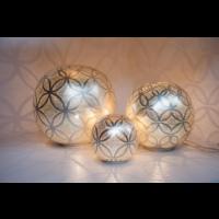 Tafellamp Chavi Suns Zilver in 3 maten