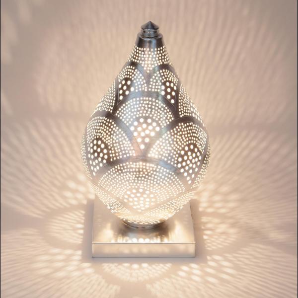 Tafellamp Memphis Waaier Zilver Mini