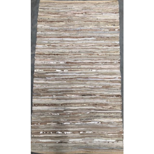Vloerkleed Recycled Leer Beige/Goud in 3 maten