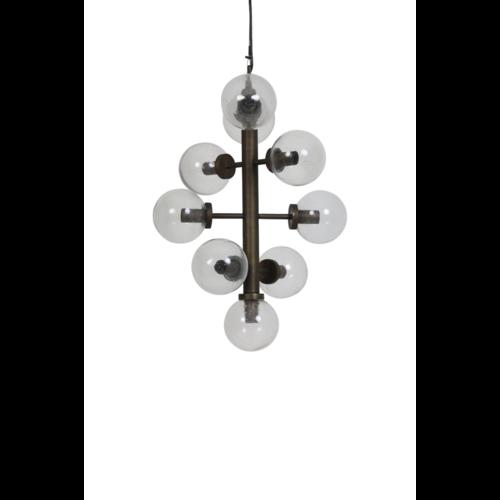 Hanglamp Lyra glas en brons in 2 maten