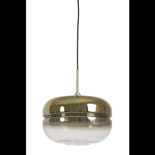 Hanglamp Clarissa glas en goud in 2 maten