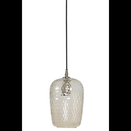 Hanglamp Cosima getint glas en koper