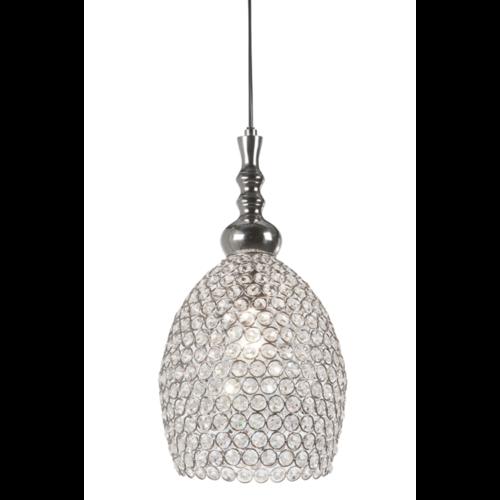 Hanglamp Chiselle transparant glas en nikkel