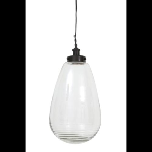 Hanglamp Clairette transparant glas en nikkel