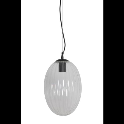 Hanglamp Camilla transparant glas in 2 maten