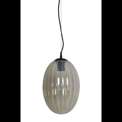 Hanglamp Camilla goud glas in 2 maten